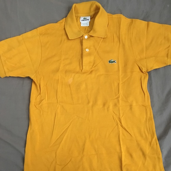 7a9f5a33 Lacoste Shirts | Mens Mustard Color Polo Size 2 | Poshmark
